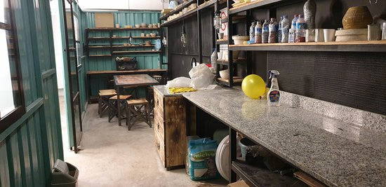 Downstairs, there is a workshop for ceramic making.