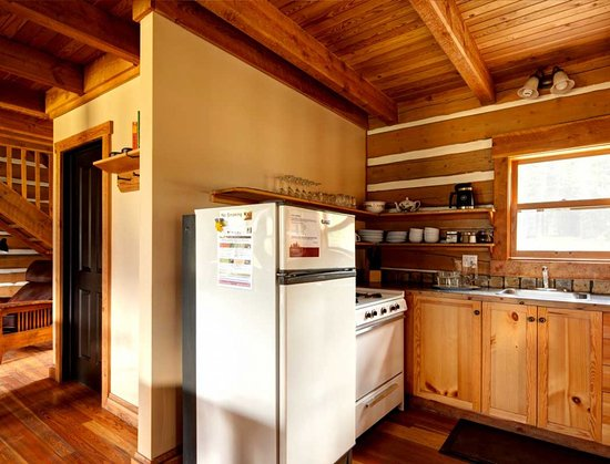 Each cabin has a full kitchen and BBQ on the deck.