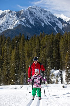 With over 50km of groomed cross-country ski trails, there are trails for all ages and abilities.