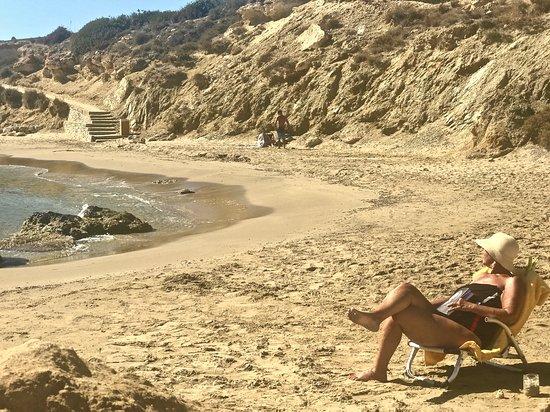Ampelas, Griechenland: White Cliff beach Ambelas Paros
