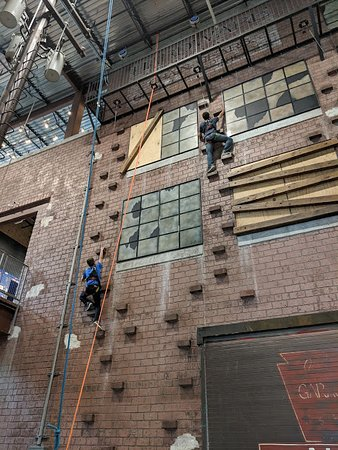 Wall climbing! Exhilarating and a fantastic workout!