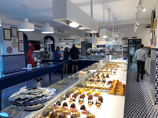 More pastries and coffee counter