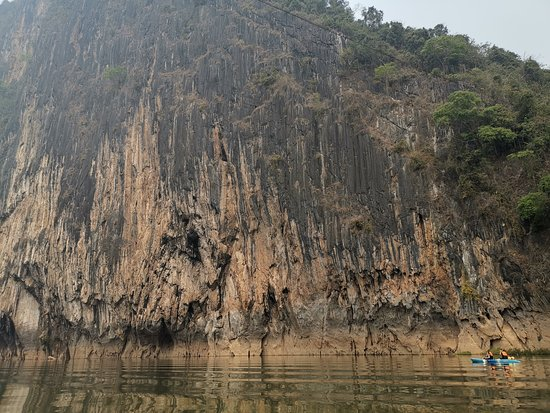 Stunning cliffs on the Nam Ou River