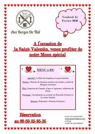 Envie d'un bon repas romantique auprès du feu ? Réservez vite votre saint-Valentin !!