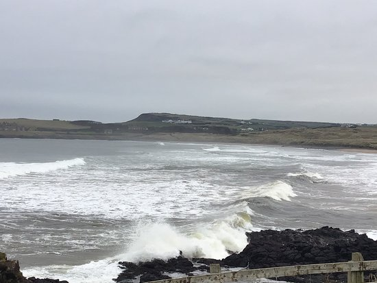 Causeway Coast & Glens, UK: The Wild Atlantic rollers ripping up the surf today.