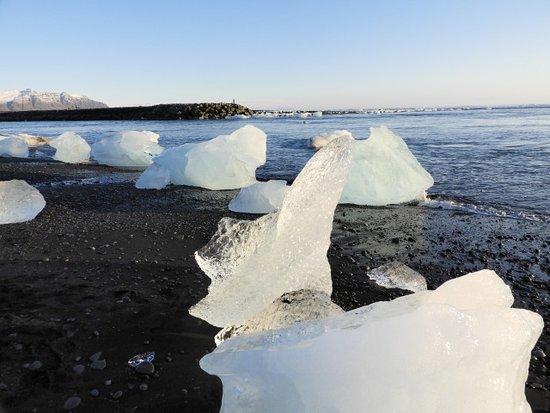 白っぽい氷塊