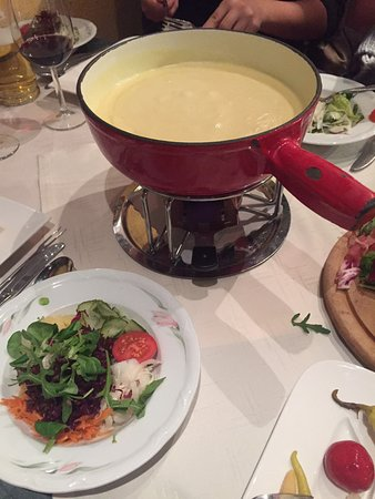 As our German wasn't great but the bacon platter was the charcuterie that we needed to go with the Cheese Fondue. It was nice but cheese lack the Strong French Swiss cheese flavours.