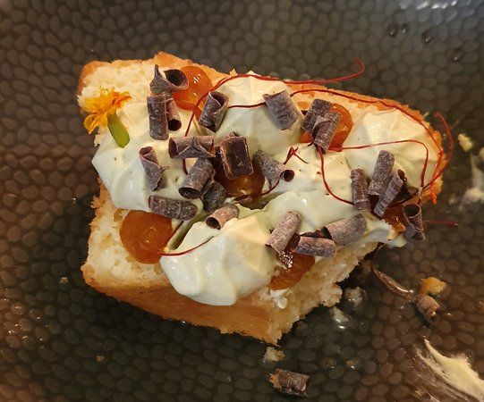Unser Dessert Schon Angebissen Picture Of La Cuisine Du