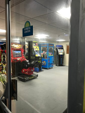 Fitness center is now arcade machines