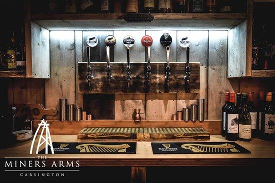 Carsington, UK: back of bar