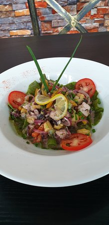 Octopus salad with an in house seasoning