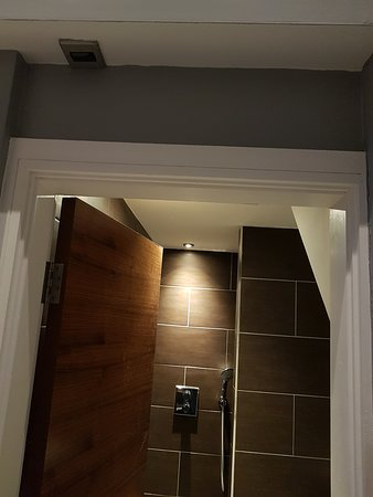 The switch on top where the bathroom door is I found funny