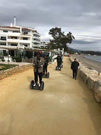 Surprise birthday gift,. One tour on segway by The Golden mile Marbella.