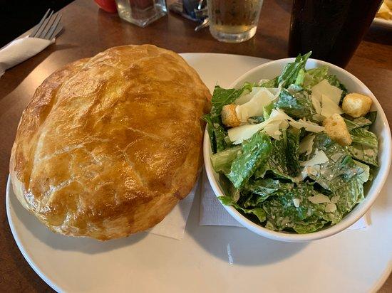 Chicken Pot Pie w/ Caesar Salad