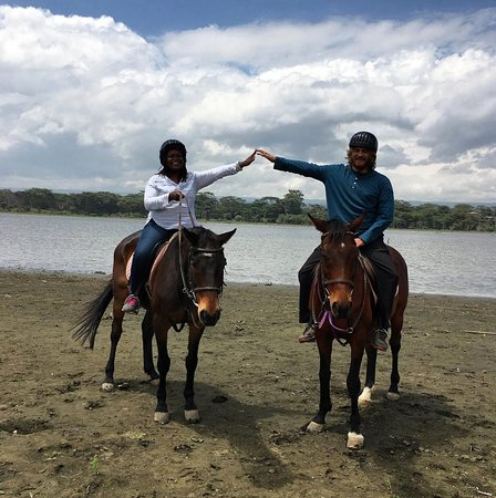 Riding horses around Lake Naivasha, Kenya