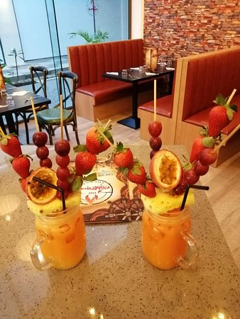 Chef's special fruit cocktail, freshly made