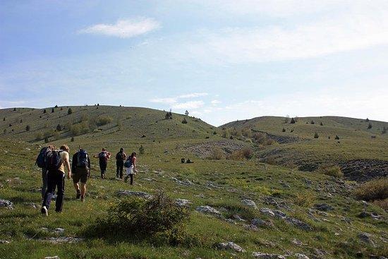 Wandelen in Mostar, berg ...