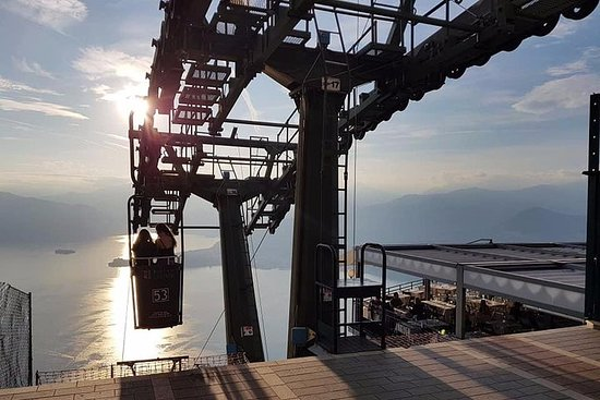 Solnedgang ved Maggioresøen: hvor...