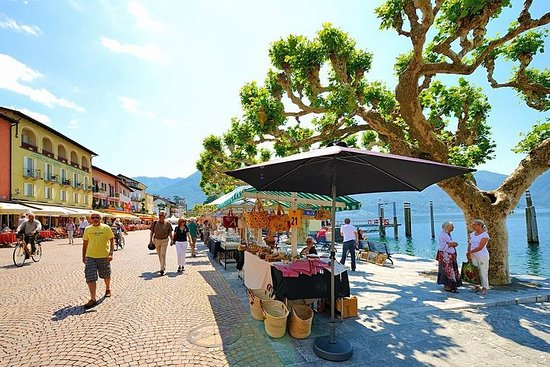 Maggiore-søen: fra markedet i Luino...