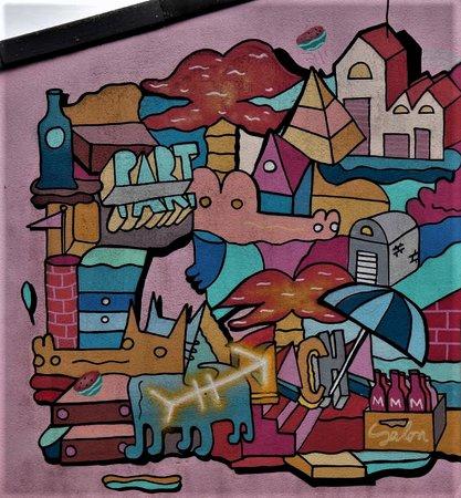 Marcilly-en-Gault, France: Détail de la fresque