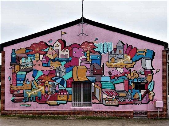 Marcilly-en-Gault, France: La fresque