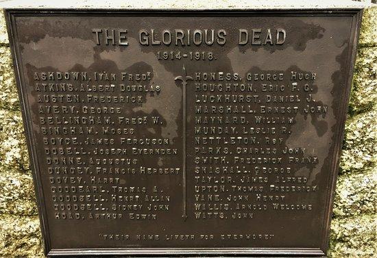 12.  Biddenden War Memorial