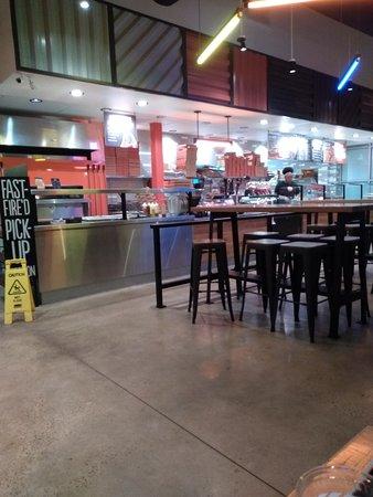 Blaze Pizza....Kitchen area.