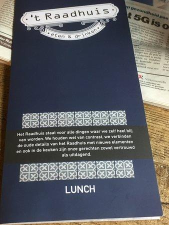 Goudriaan, Nederland: lunch menu