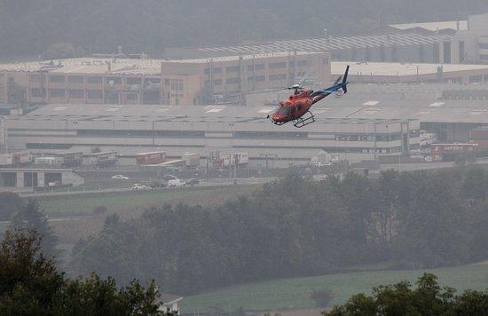 Mendrisiotto, trasporto tramite elicottero.