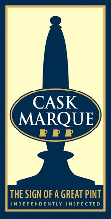 Cask Marque award for fantastic real ale