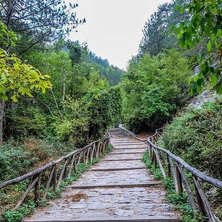 Skala Litochorou, Греция: Фото парка в Катерини и дорога на Олимп.