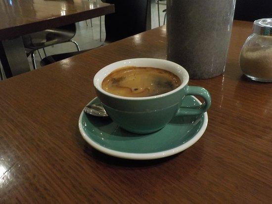 a long black coffee