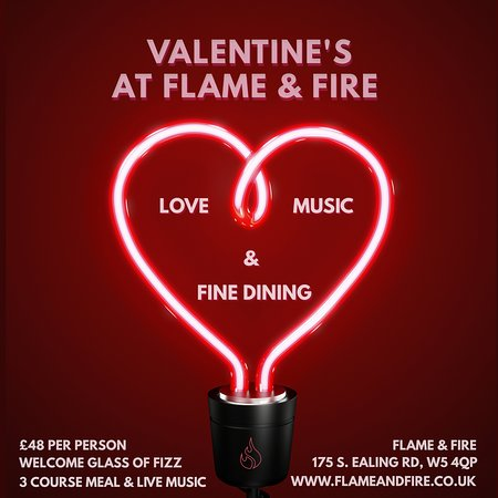 Valentine's night at Flame & Fire - 14 February 2020