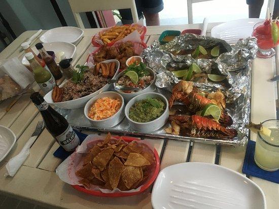 Birthday dinner prepared by staff for a friend