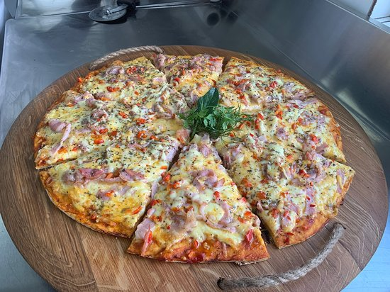 Gourmet family size pizza
