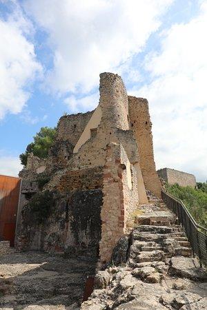 Gelida, Spanien: Schodiště do středního hradu