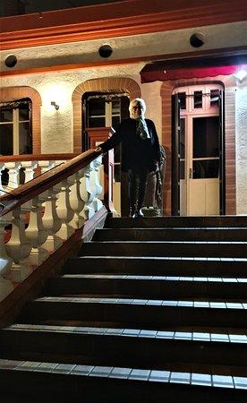 Escalier d'accès au restaurant