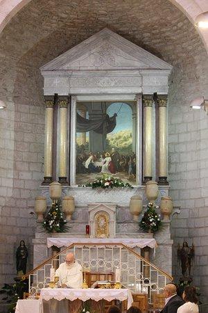 Igreja de Caná, onde aconteceu o primeiro milagre de Jesus, transformando agua em vinho.