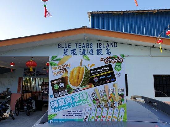 Bagan Datoh, Maleisië: OriPlus'  original fruit ice cream available here 👆  https://www.facebook.com/bluetearsisland.bd/