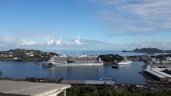 Gros Islet, St. Lucia: Rückblich auf unser Schiff
