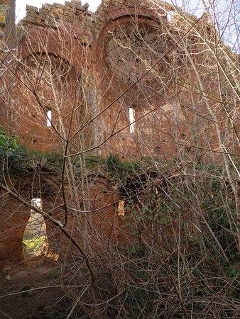 Le absidi della chiesa viste dall'interno della cripta