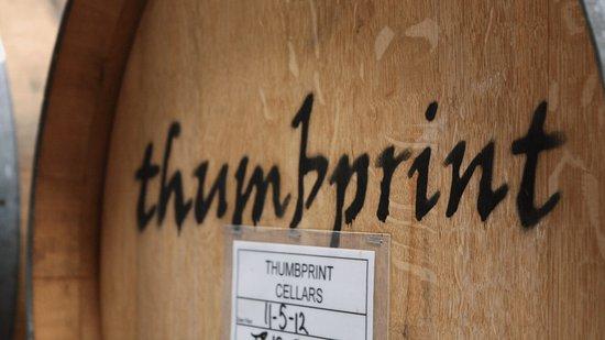 Healdsburg, Kalifornia: thumbprint cellars oak barrel