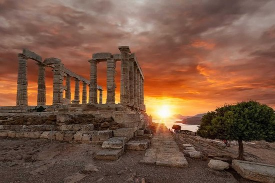 Cape Sounion og Temple of Poseidon...