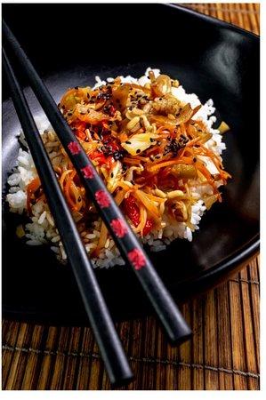 Yakimeshi : Riz agrémenté de légumes cuits au wok