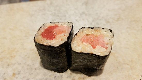 Sushi course for dinner
