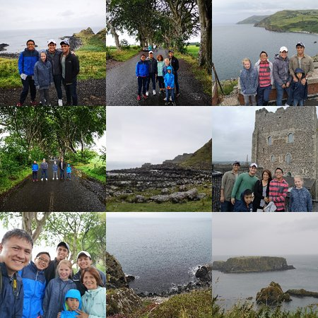 Causeway Coast & Glens, UK: Tour start at Carrickfergus then goes Torr Head and then Giants Causeway then Dark Hedges
