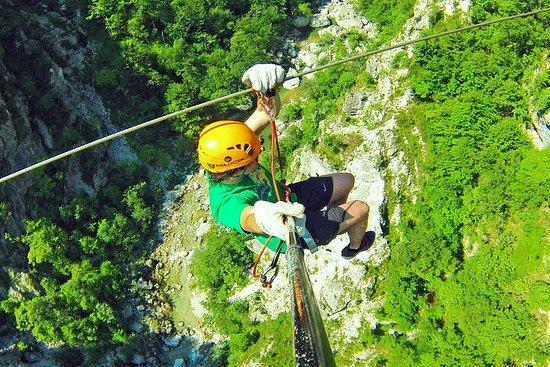 Bovec Zipline - 峡谷Ucja - ヨーロッパ最大のzipli…
