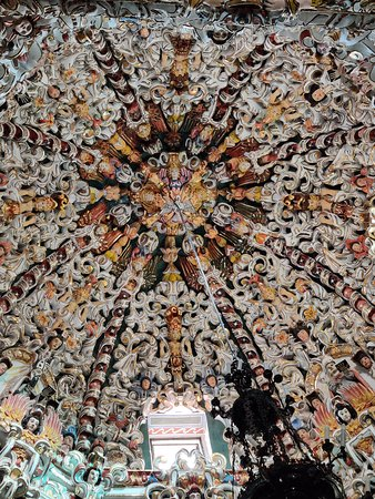 Santa Maria Tonantzintla, Mexique : La cúpula por dentro