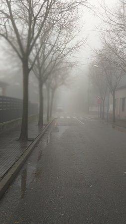 Begues, Spain: Niebla