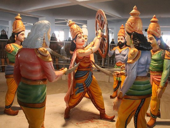 Abhimanyu defeated the mighty warriors of Kauravas Side including the great Drona, Kripa, and Karna. No Kaurava warrior could escape his arrows... Duryodhana became so threatened that Abhimanyu could break Chakravyuha easily. Hence, a strategy was formed and a joint attack on Abhimanyu followed